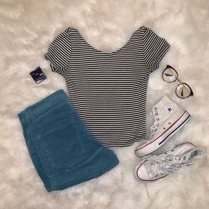 Brandy Melville black and white crop top